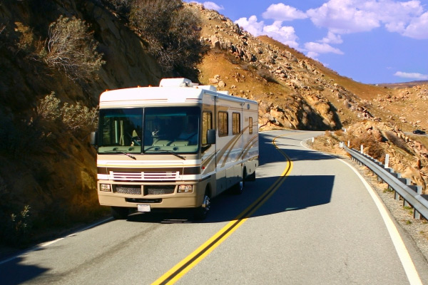 Large RV on the highway